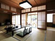 特別室「御幸」和室16帖+洋間(ベッド1台)+広縁