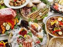 夕食ビュッフェイメージ。和洋中50品以上の品揃え♪