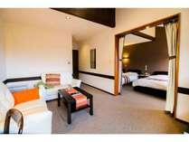 全室、リビングと寝室の2部屋構成です。