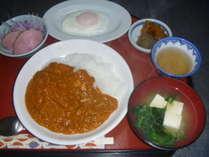 キーマカレー朝食