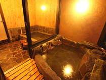 自家源泉・掛け流し、PH9.0のトロりとした天然保湿成分がお肌の潤いを保ちます[客室内湯・露天風呂]
