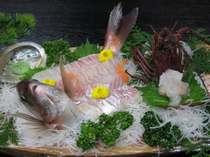 鯛と伊勢海老の舟盛会席になります。,三重県,味覚の宿 幸洋荘