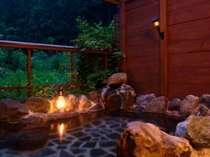 源泉掛け流しの露天風呂と満天の星空でやすらぎのひとときを・・・