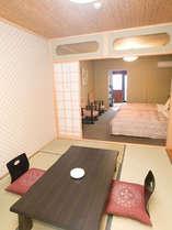 湯楽庵で一番人気の余裕のスペースでゆったり和洋室