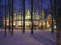 【冬外観】幻想的な夜景  まるでおとぎの国のような風景です