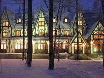 【外観・冬】幻想的な夜景。まるでおとぎの国のような風景です。