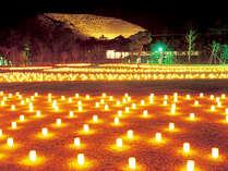 燈花会≪浮雲園地≫☆燈花会で最大規模を誇るメイン会場です☆まるでろうそくの天の川のよう…♪