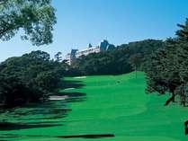 芝の緑と海の青♪ゴルフ場傍でのんびり素泊まり
