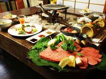 いろりで味わう但馬牛づくし…一組限定温泉付きの特別な饗し【一泊二食】