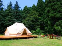 快適キャンプ気分でアウトドア満喫!テント以外に和室1室がセットに♪雨の日も小さなお子様連れも安心