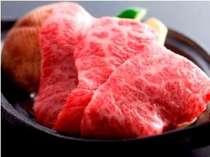飛騨牛の陶板です。熱々のお肉を自家製のたれにつけてお召し上がりください。(一例)