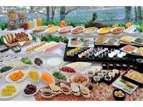 ≪朝食バイキング≫手作りの心こもったお料理をご用意♪大人も子供も楽しめる品を揃えております!