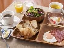 スープ・珈琲もこだわりの洋朝食