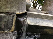 美人の湯といわれる天然温泉は好評!