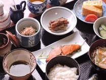【ある日の朝食】献立は、日替わり。特にお米が自慢です。