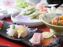 *ご夕食一例<創作和風膳>八ヶ岳の地元で採れた野菜や、旬の魚介など、季節の味をご堪能ください♪