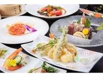ご夕食一例 【和中折衷料理】地元厳選素材を使用した当ホテル自慢の料理。