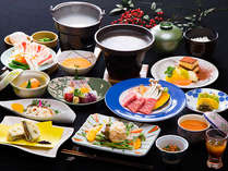 ☆おんせん県【贅沢編】特選豊後牛(A5等級)+旨コク種鶏の陶板焼きプラン