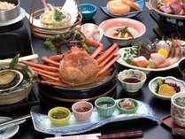 ▲ 佐渡 紅ズワイガニ注)1月~3月上旬まで禁漁のため8月9月は 佐渡サザエのつぼ焼きになります。