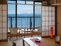 オーシャンヒ゛ュー海の館トイレ付和室。海を眺めながらホッと一息。