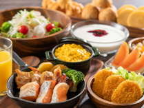 【朝食バイキング】お好みの料理を選ぶ楽しさ♪※季節によりメニューが変更になる場合がございます