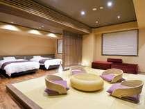 ■リニューアルDeluxe和洋室■和室12畳+ツイン/トイレ&シャワー付☆2018年1月に改装した新客室です。