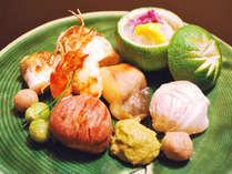 【夕食一例】季節感を大切にした八寸盛り合わせ