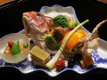 肉厚で程よく脂ののった瀬戸内鯛だけを仕入れています 焼き物例