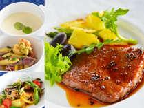 *八ヶ岳コース/ステーキなど、料理長こだわりの創作料理を堪能(注:メニューは一例となります)