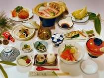 ボリュームのある人気の手作り和食膳(季節により多少異なります)