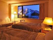 *【洋室】お部屋からスキー場が見える部屋も