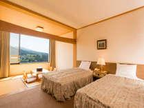 【和洋室】ベッド2本と6畳のお部屋