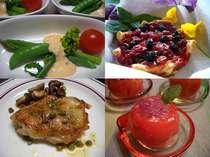 料理は素材が本来持つ味とチカラを大切に。手作りの木の実ジャムやデザートは季節ごとに変わります。