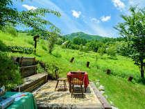 雄大な景色とゆっくり流れる時間の中で、ただぼんやり過ごす休日も。