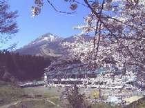 亀ヶ城址から磐梯山