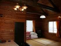 【お部屋一例】山小屋風の貸切コテージ