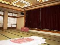 宴会場又は客室に布団を用意(仮眠室は6時~昼12時まで)仮眠プランのみ