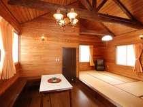 【お部屋一例】コテージ一例 キッチン付(調理器具・食器はありません)