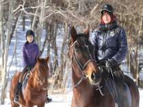 乗馬体験冬