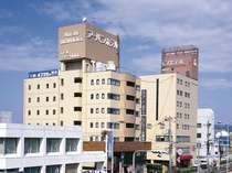 ホテル外観★松江駅より徒歩2分で到着します★