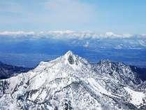 横手山、山頂からの眺めは抜群!。樹氷も見られます。