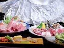 お肉と海鮮を一度に味わえます