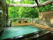 初夏の貸切露天風呂 大自然を一人占め