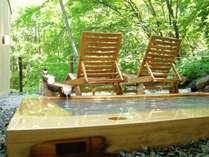 緑の中の貸切露天風呂『寿老人』