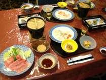 米澤牛・山形牛食べ比べプラン料理一例
