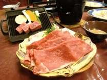 牛しゃぶ膳に山形牛ステーキがついたワンワンプラン