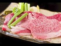 山形牛と山菜のすき焼き風鍋