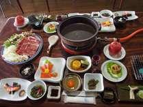 信州牛のすき焼き鍋