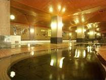 【大浴場】当館は定山渓温泉の元湯。源泉三本から毎分600リットルの豊富な湯量を贅沢に使用。
