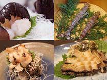 【メイン食材を選べる!】伊勢海老、鮑、車海老、カキ、サザエから1人2品♪